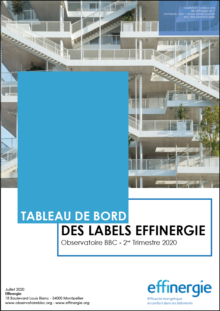 COUV tableau de bord des labels Effinergie au 2nd trimestre